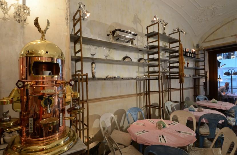 Romos stílusú étterem tervezés.