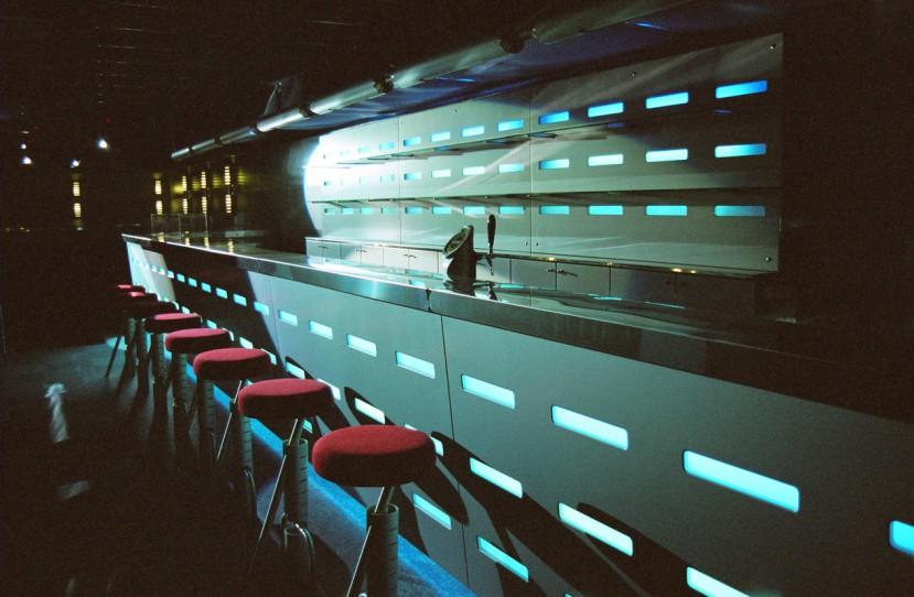 Night club bárpult tervezés.