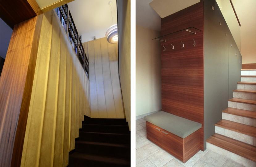 Egyedi lépcső falburkolat tervezés.