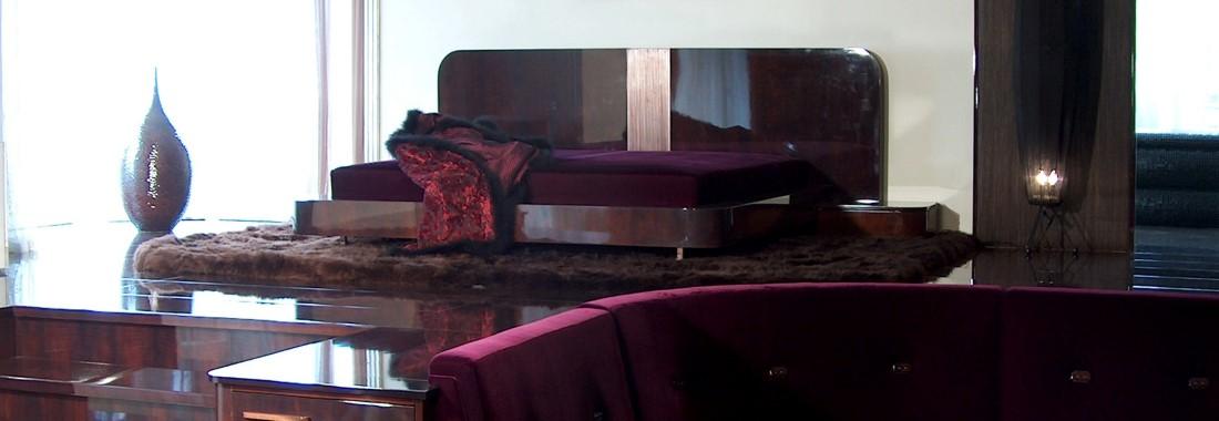 Belsőépítészet, luxus bútorok.