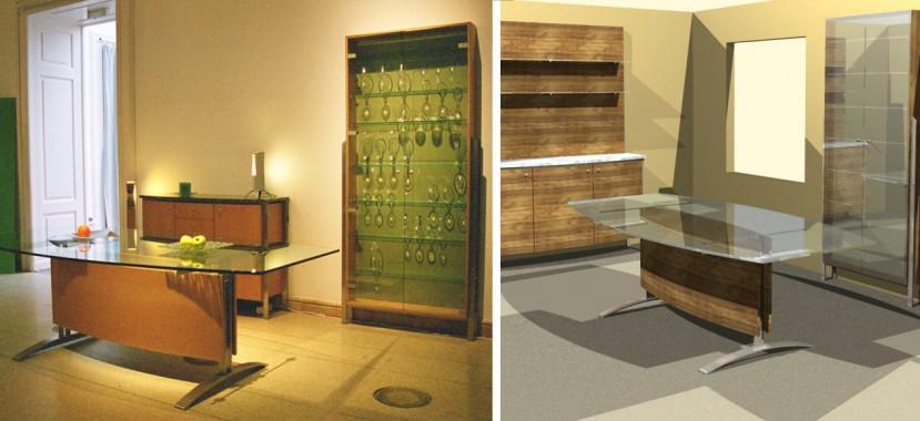 Különleges egyedi bútor tervezés és látványterv készítés.