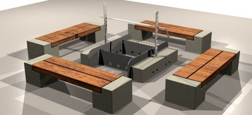 Különleges egyedi kerti bútor tervezés és látványterv készítés.