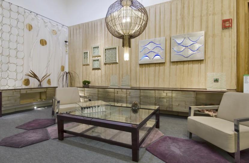 Veres Péter belsőépítész tervei alapján kivitelezett nappali.