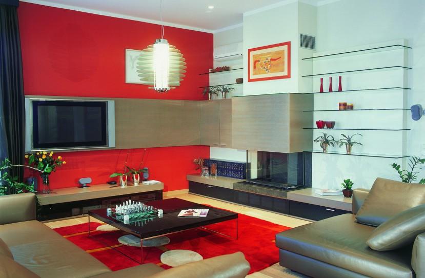 Modern nappali bútor tervezés és kivitelezés.