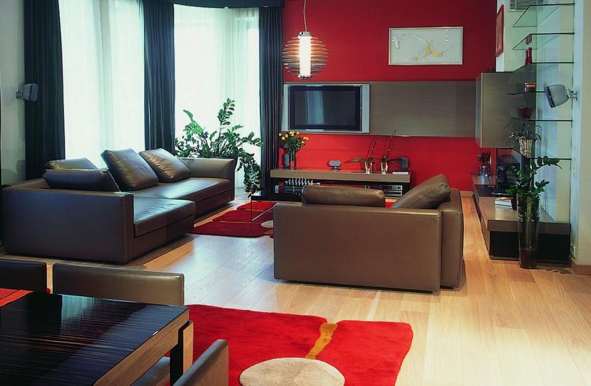 Modern nappali szoba tervezés.